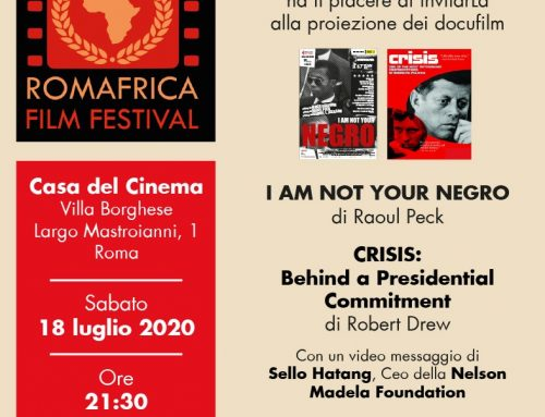 """Roma Africa Film Festival, 18 luglio 2020 """"I can't breathe"""""""